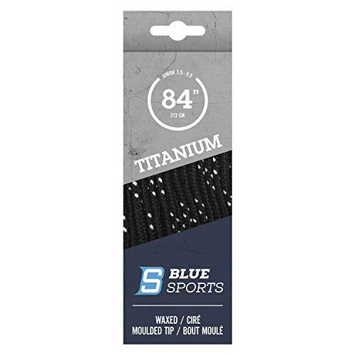Blue Sports Schnürsenkel gewachst laces Eishockey Hockey (schwarz, 304cm / 120