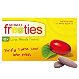 Miracle Frooties - Large Miracle Fruit Tablets, 10 Count, Turn Sour Foods to Sweet, Taste Tripping, Change Taste Buds. Miracle Berry Tablets 100% Naturally Grown Miracle Berry. (1 Pack)