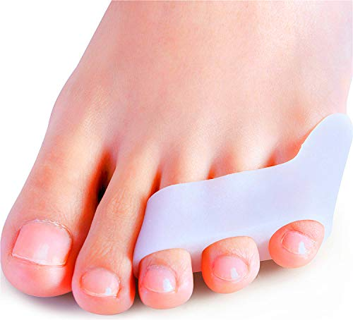 Povihome 10 Pack Pinky Toe Separator and Protectors, Triple Gel Toe Separators for Overlapping Toe, Curled Pinky Toes Separate and Protect