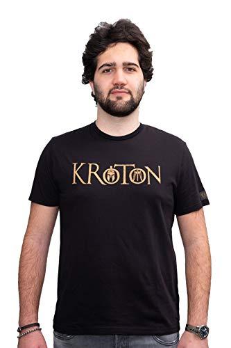 KROTON T Shirt Serigrafia Brand Cotone 100% per Abbigliamento Comodo da Indossare. Tessuto 100% Cotone Made in Italy. vestibilità Fit. (XL Uomo Dim Larghezza 54,5 Lunghezza 75)