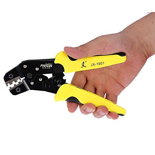 U/D Pimbuster 4 in 1 Crimper Tool Kit Crimpzange for Stecker/Rohr/Isolation/Keine Isolation/Crimpen Cap/Koaxialkabels Klemmen Kit 4 Kiefer (Color : Schwarz, Size(inch) : 11 Inches)