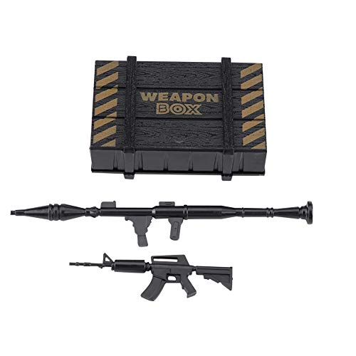 RC Car Weapon Box, Crawler Decor Kunststoff-Waffenbox mit Spielzeugpistole für RC Car Crawler RC Decoration Upgrade Teilzubehör