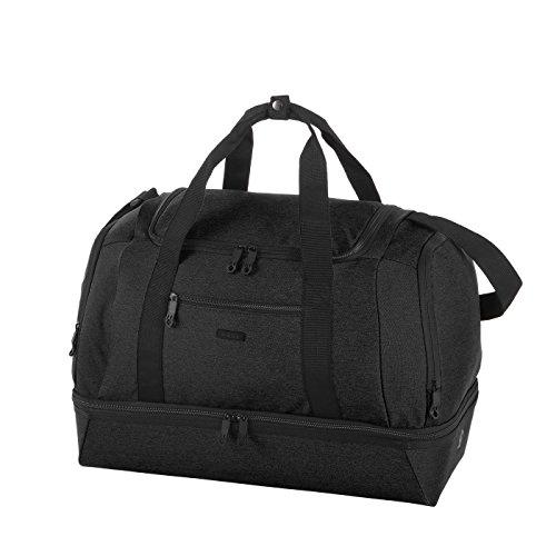 Rada Reisetasche/Sporttasche RT41/ mit Schuhfach, auswischbares Nassfach, große Wasserabweisende Fitnesstasche, für Damen und Herren, Jungen und Mädchen (schwarz)