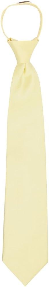 Jacob Alexander Boys 14 Pretied Solid Color Zipper Tie