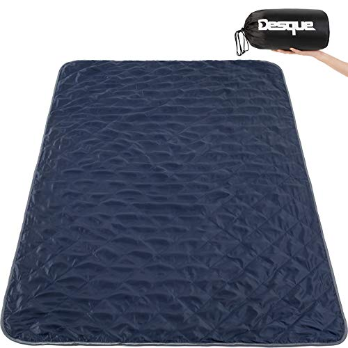 Desque Large Outdoor Windproof Stadium Blanket with Extra Thick Quilted Fleece, Ideal Stadium Blanket for Beaches, Camping Picnic, Dogs, Soft Warm Airplane Blanket for Travelers, Machine Washable
