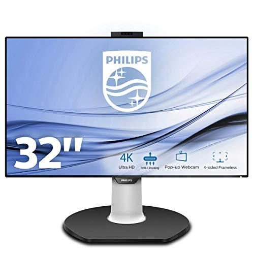 Philips 329P9H/00 80 cm (31,5 Zoll) Monitor (HDMI, USB-C Docking, USB Hub, Displayport, 5ms Reaktionszeit, 3840 x 2160 Pixel, 60 Hz, Pivot) schwarz