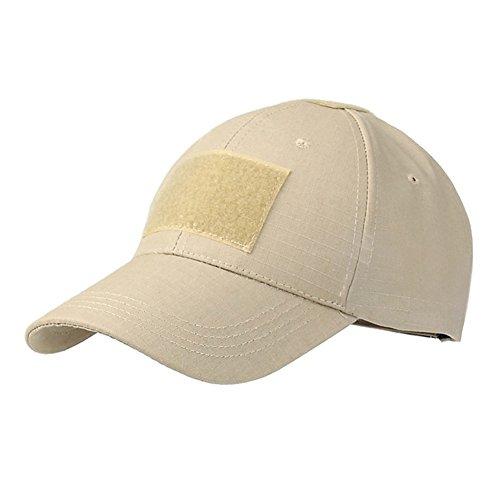 EBILUN Chapeau de camouflage pour extérieur - Protection UV - Style militaire - Pour l'été Taille unique sable