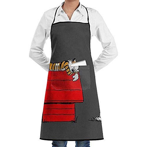 Snoopy's Home Print, Delantales de cocina para restaurantes y cafeterías, con bolsa grande