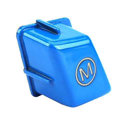 Auto Lenkrad Tastenfeld Abdeckung, Lenkrad für Fahrzeuglenkrad M für 3er-Reihe E90 E92 E93 M3 2007-2013(Blue)