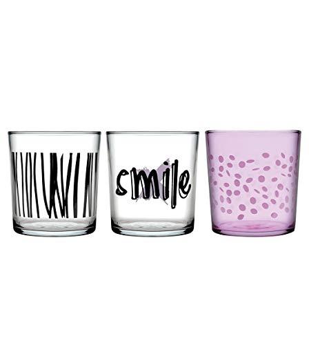 Vintage lila vaso de agua 6 unidades vasos de cristal jugo de otra manera vidrio