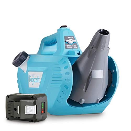FogCraft Fogger Machine ULV Sprayer Electric Disinfectant Handheld Cordless 2GAL 48V DC Li-Ion Mist Duster Blower Adjustable Particle Size 0-50um/Mm