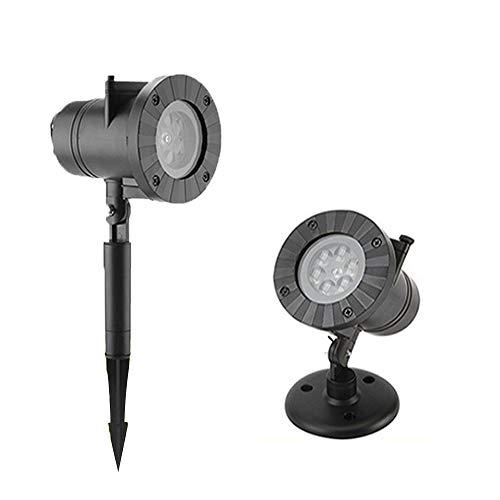 IWILCS Proyector LED de copo de nieve, Proyector de copo de nieve LED Proyector de luz navideña a prueba de agua Lámpara de proyección LED Copo de nieve para decoración de interiores y exteriores