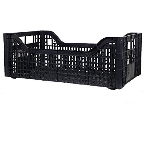 Cassetta Multiuso Per Ortofrutta Per Agricoltura Forata In Plastica Nera