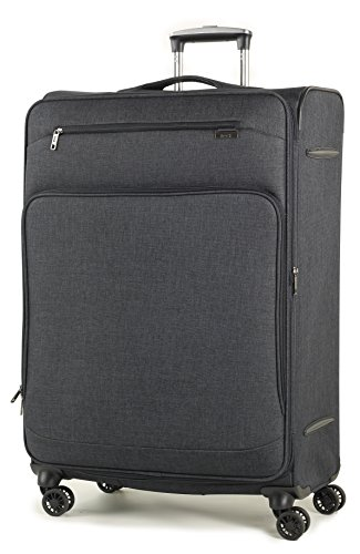 Rock Madison 79cm Lightweight Expandable Four Wheel Spinner Suitcase Black