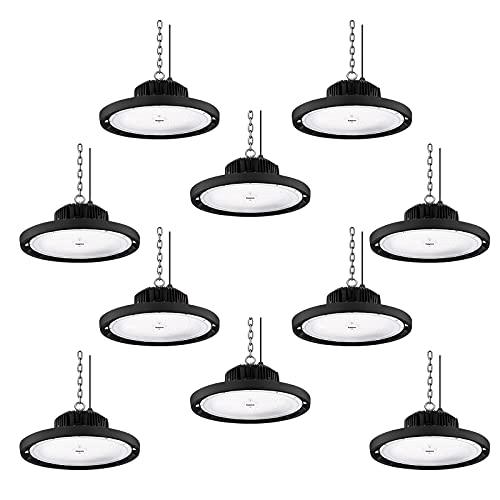 10 piezas 200W 20000LM UFO Iluminación LED de la Bahía, 6500K blanco...