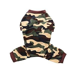 RUIBUY Pyjama Vêtement de Nuit Chemise de Nuit pour Chiens Garçon Et Fille, Flanelle Thermique, Conception À 4 Pattes, Taille Élastique