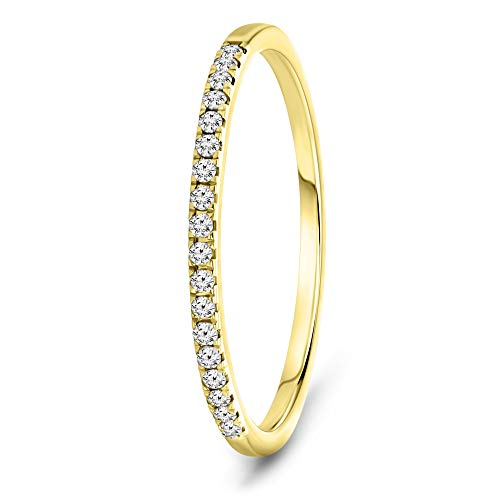 Miore Anillo de eternidad para mujeren oro amarillo 9 quilates 375 con diamantes brillantes de 0.09 quilates