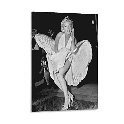 GIUU Póster de Marilyn Monroe, cuadro decorativo, lienzo de pared, sala de estar, póster, dormitorio, 20 x 30 cm
