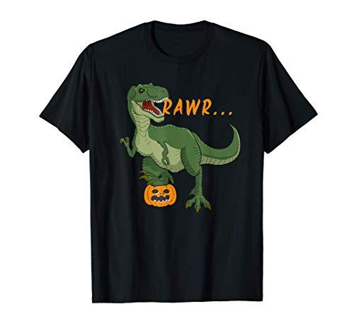Disfraz de dinosaurio calabaza de Halloween para niños Camiseta
