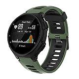 ANBEST Correa de Silicona Compatible para Forerunner 235/735XT/220/230/620/630 Pulsera de Reemplazo Correa Adecuado para Approach S20/S5/S6 Smart Watch, Ejército Verde/Negro