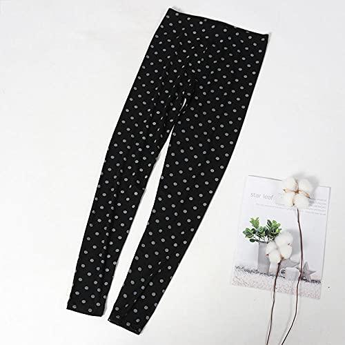 ArcherWlh Leggings,2021 Nuevas Leggings Modales Femeninas Hips de Alta Cintura para Llevar Pantalones Imprimir Leggings de Yoga-Gris Negro_Código