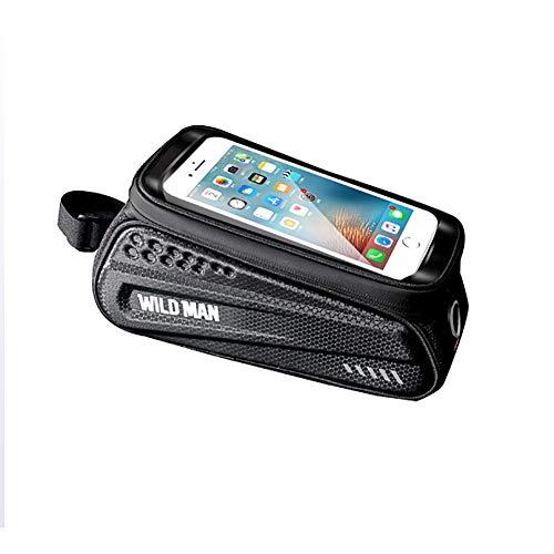 Augu Soporte de teléfono de Bicicleta, Hecho de Material EVA Que no es fácil de deformar y Usar, Pantalla táctil TPU, Adecuada para teléfonos Inteligentes por Debajo de 6,5 Pulgadas