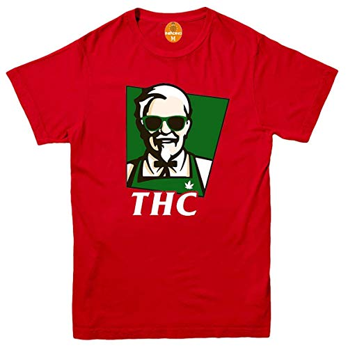 Invading THC KFC T-Shirt Marihuana Drugs Cannabis Gangster DOPE Stoner Weed TOP Gr. XXL, rot