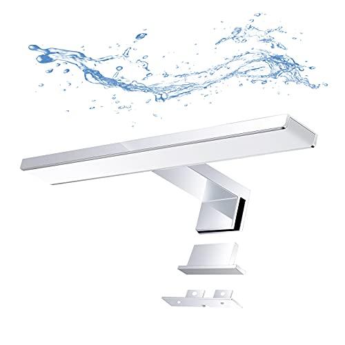 Galapara LED Spiegelleuchte 30cm,5W Badleuchte,IP44 wasserdichte Bad Spiegel Lampe,6000K Weißlicht,400lm,Schminklicht,Badezimmer Wandleuchte Aufbauleuchte