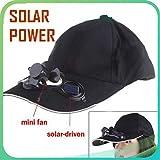 Global Craft Outdoor Solar Sun Power Hat Cap Cooling Cool Fan for Golf Baseball Sport Model 187358