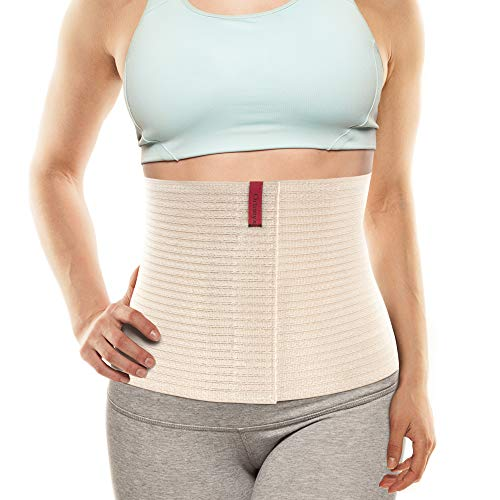 "ORTONYX 10.25"" Abdominal Binder for Men and Women / Postpartum Post-operative Post-surgery Wrap / Abdomen Navel Umbilical Hernia Support Belt / 524010 Beige L/XXL"