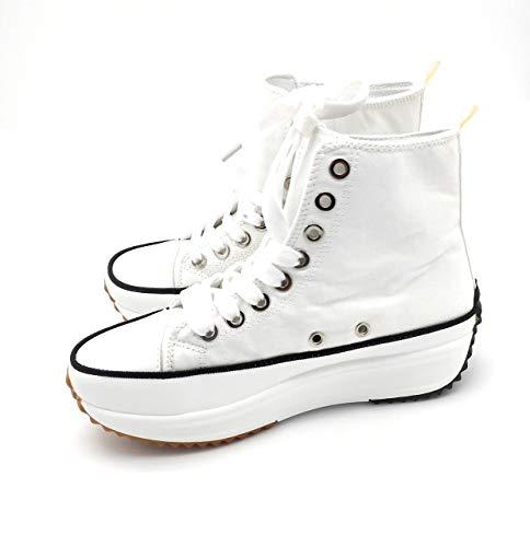 Zapatillas con Plataforma, Zapatillas de Lona Mujer, Zapatillas de Moda (36 EU, Numeric_36)