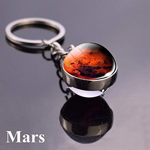 DSBN sleutelhanger, zonne-systeem, planeet, sleutelhanger, Galaxie, mist, plek, sleutelhanger, maan, zon, Mars, Art Foto, dubbelzijdig, glazen bol, sleutelhanger, maat 4