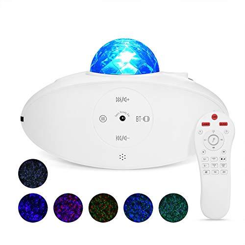 SnailDigit - Proyector de luz nocturna (compatible con Alexa/Google Assistant), LED de la nebulosa, reproductor de música, iluminación ambiental para adultos y niños, decoración de la habitación