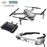 DJI Mavic 2 Pro avec contrôleur intelligent + lunettes FPV Epson Moverio BT-35E - Drone avec un appareil photo 20 MP + un écran de 5,5 pouces + des lunettes stéréoscopiques 3D intelligentes pour FPV