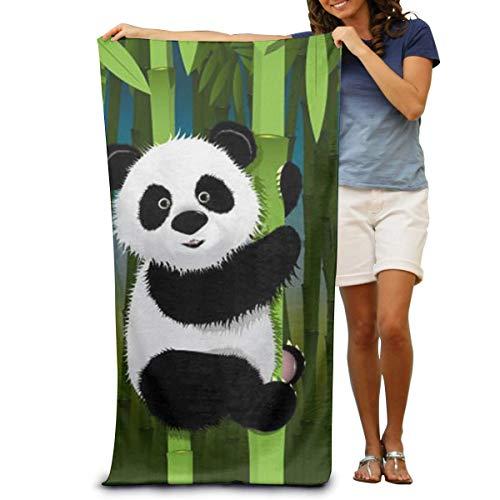 Annays Asciugamani Spa ad Asciugatura Rapida Leggeri per Neonati Panda curiosi Costume da Bagno e Asciugamano da Bagno Coperta da Spiaggia per Donna , Uomo 80x130 cm