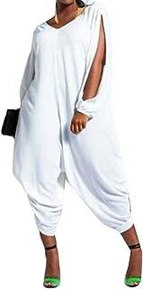 FSSE Women's Jumper Harem Hollow Out Jumpsuit Long Sleeve One Piece Jumpsuit Playsuit