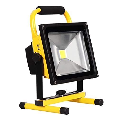 HACSYP Luz de inundación LED, Smart Floodlights Luz De Trabajo LED Recargable con Soporte  IP 65 Foco De Seguridad De Emergencia Impermeable para El Garden Garage Camping Lighting (Size : 30W)