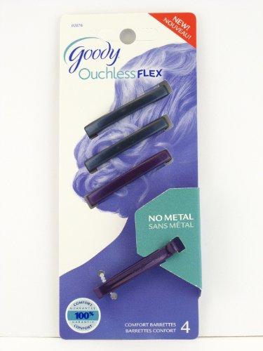 Goody Ouchless Flex Hair Barrettes - Blue & Purple - 4 Pcs.