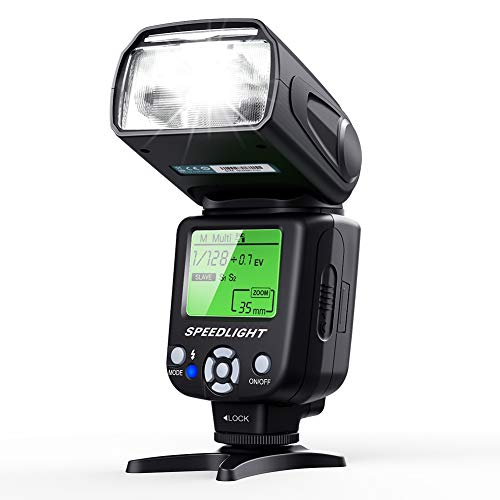 ESDDI Camera Flash Speedlite, LCD Display, Multi, for Canon Nikon Olympus Pentax DSLR and Digital Cameras with Standard Hot Shoe
