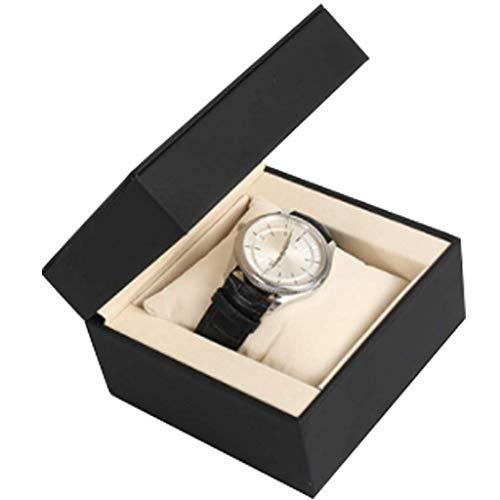 WMYATING La caja del reloj es un símbolo de la gente exitosa. Caja de reloj de madera maciza organizador de caja de madera y cierre a presión para hombre