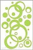 Key Lime Green Wall Vinyl Sticker Decal Circles, Bubbles, Dots 25+ Pc