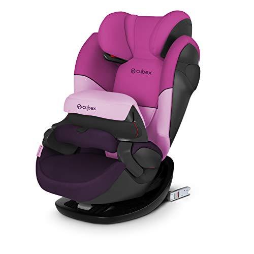 CYBEX Silver 2-in-1 Kinder-Autositz Pallas M-Fix, Für Autos mit und ohne ISOFIX, Gruppe 1/2/3 (9-36 kg), Ab ca. 9 Monaten bis ca. 12 Jahren, Purple Rain
