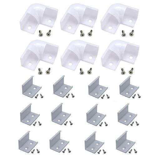 StarlandLed LED-Profileckverbinder-Kit L-Form-Adapter für V-Form-Aluminiumkanal, 90 Grad