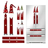 Christmas Decorations Gnomes Refrigerator Handle Covers Set of 8PCS Christmas Kitchen Decor Appliance Handle Covers-Microwave Oven Dishwasher Fridge Door Handle Covers for Christmas Holiday Decor