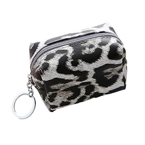 Coin portemonnee luipaard vrouwen muntportemonnee vrouwen portemonnee muntzak sleutelhanger zak koptelefoon opbergtas kleine meisje muntzak