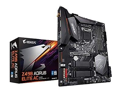 GIGABYTE Z490 AORUS Elite AC (Intel LGA1200/Z490/ATX/2xM.2 Thermal Guard/Realtek ALC1200/SATA 6Gb/s/USB 3.2 Gen 2/Intel 802.11ac/2.5 GbE LAN/RGB Fusion/Gaming Motherboard)