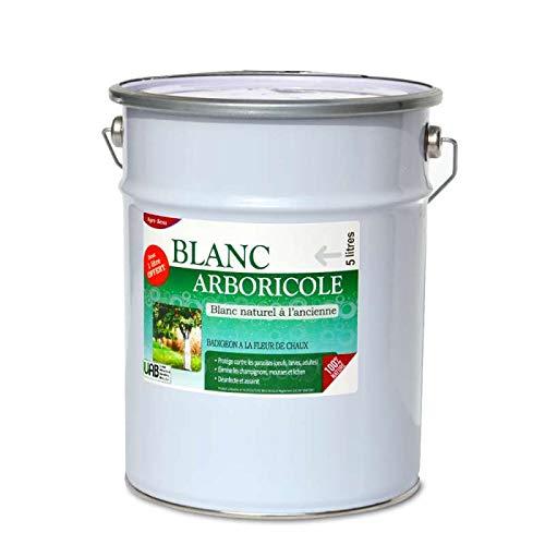 Agro Sens - Blanc arboricole à l'ancienne. Blanc Pur, 4 litres + 1 Litre Gratuit
