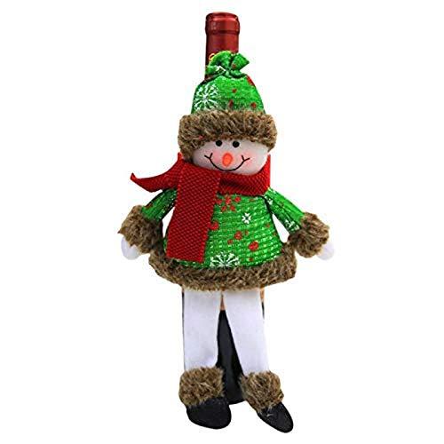 Navidad Sombrero Navidad Botella de Vino Cap Navidad Muñeco de Nieve Muñeca Doll Christmas Home Restaurante Cena Decoración Navidad Champagne Hat 3.5x6cm Rojo WTZ012 (Color : Green, Size : 3.5x6cm)