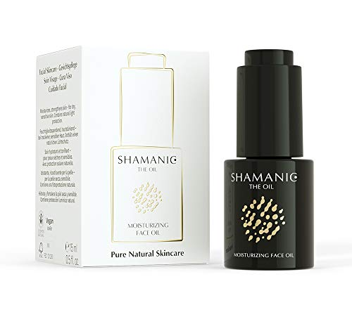 SHAMANIC Moisturizing Face Oil, 15 ml Gesichtsöl, Hautpflege für trockene Haut, Primer Make-up, vegane Naturkosmetik, Made in Germany