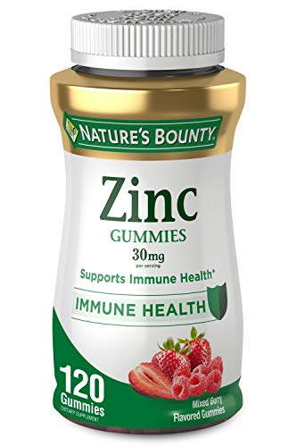 Zinc Gummy by Nature's Bounty, Immune Support, 30 mg, 120 Count Gummy